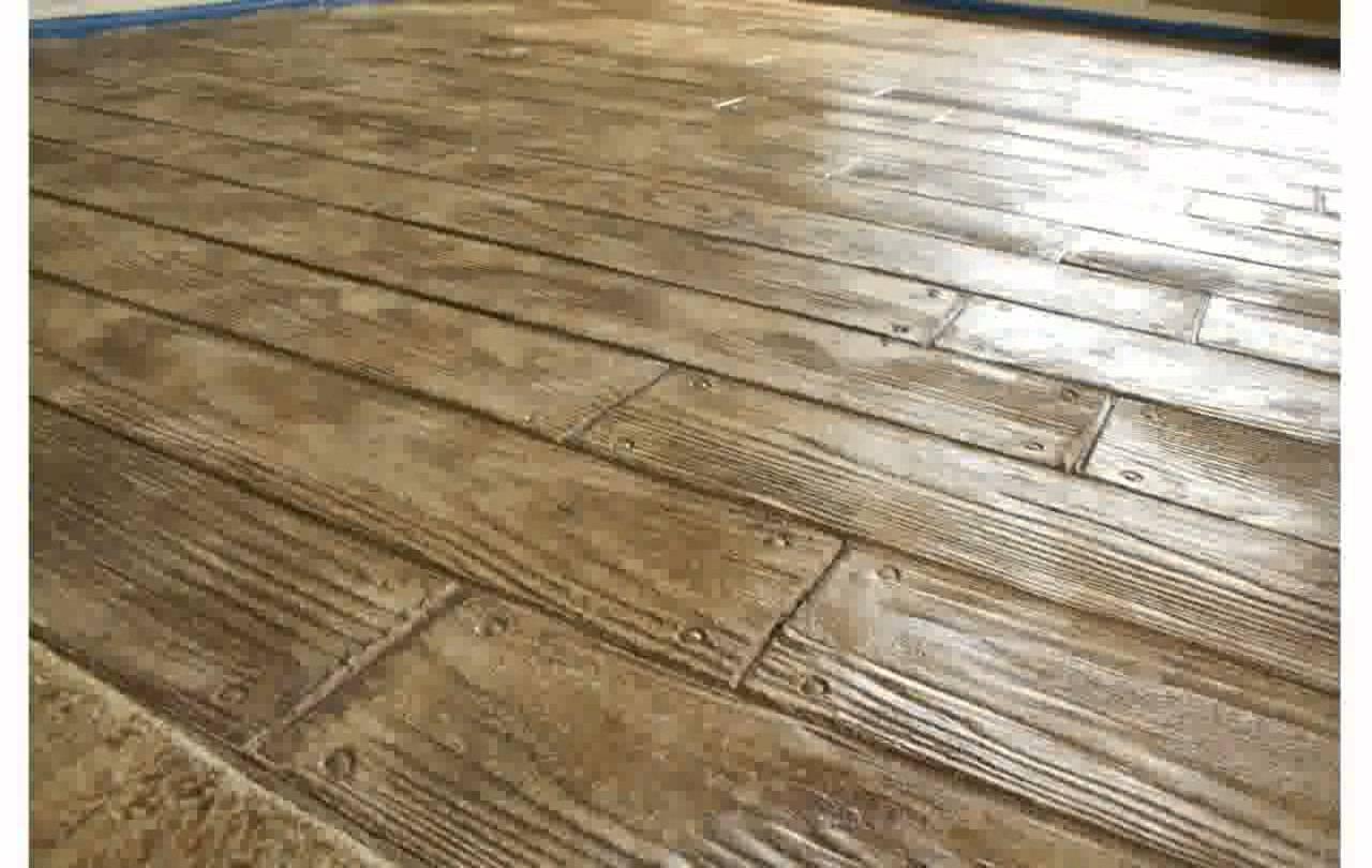 Colored stamped concrete terrastone concrete for Hardwood floor concrete stamp