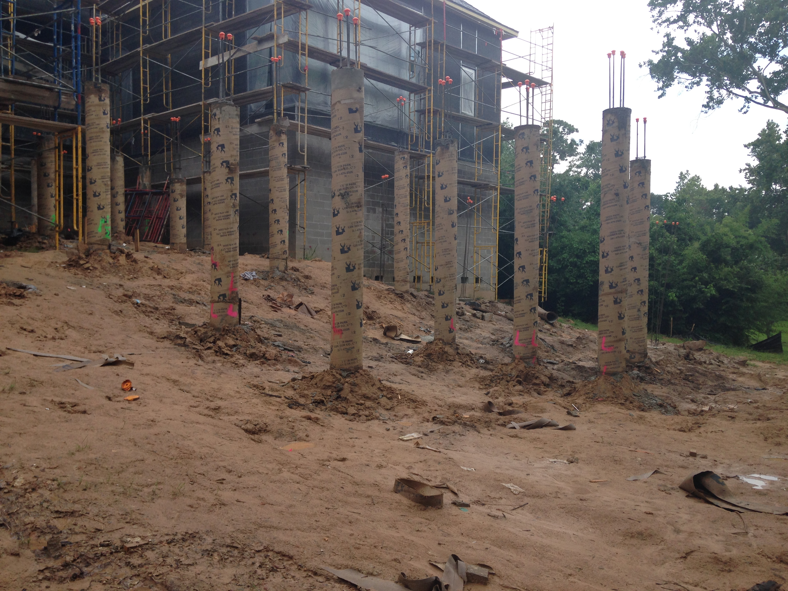 Piers and sonotube columns terrastone concrete for Concrete pillars for foundation